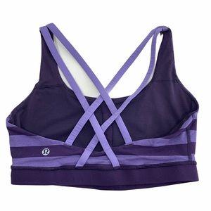 Lululemon Purple Stripe Energy Bra Sports